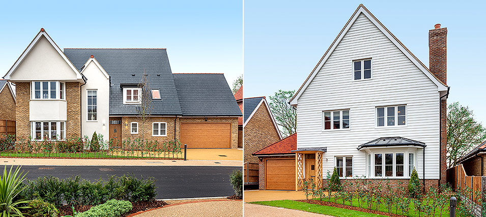 LONDON SQUARE CHIGWELL VILLAGE - THE EDWARDES AND THE PEMBROKE 	TWO BRAND NEW SHOW HOMES NOW OPEN