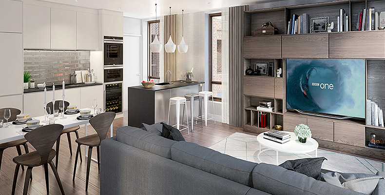 A STYLISH COLLECTION OF 1, 2 & 3 BEDROOM APARTMENTS 	IN LONDON'S MOST ECLECTIC QUARTER