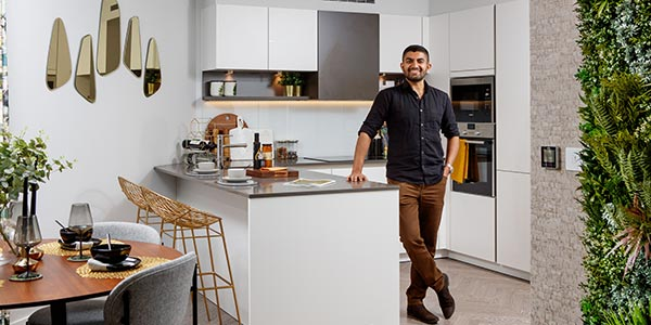 Excellent transport connections were a big attraction for fintech professional Sohail Jain when buying his first home
