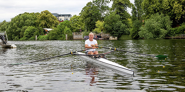 Living near the Thames was top of the list for keen rower Dennis Fitzpatrick