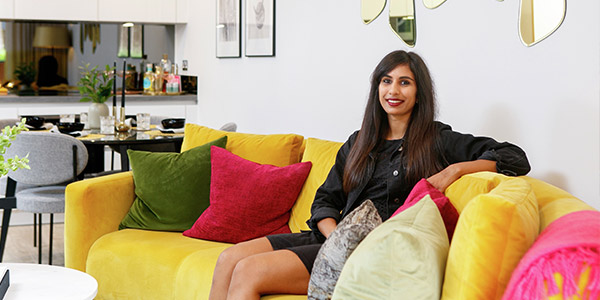After weeks of working with patients on Covid wards, therapy technician Farah Choudrey is now enjoying life in her new home