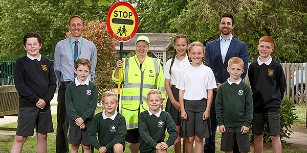 London Square sponsors Lollipop Lady at Darrick Wood Junior School
